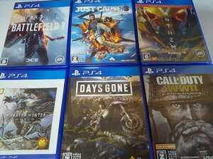 PS4 人気 ソフト 6本セット デイズゴーン ジャストコーズ3 モンハン バトルフィールド コールオブデューティ アンセム