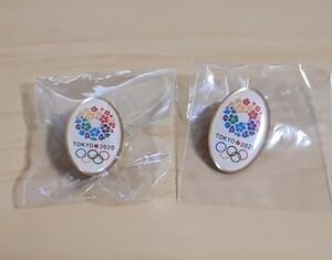 東京2020オリンピック招致☆楕円形 ピンバッジ 2個 新品未開封 【送料無料】