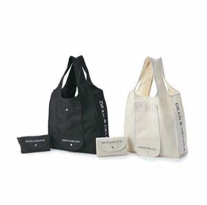 DEAN&DELUCA ディーン&デルーカ ショッピングエコバッグ ブラック ナチュラル 2色セット 新品 未開封