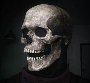 可動式スカルマスク ガイコツ ドクロ 骸骨 頭蓋骨 ハロウィンマスク ハロウィン マスク 仮装 パーティー 変装 ラテックス コスプレ 605