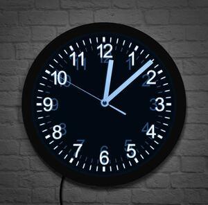 LED7色変化 壁掛け時計 ネオンサイン アナログ時計 壁掛け 柱時計 アナログ インテリア オブジェ 装飾 照明 ライト ネオン 1028
