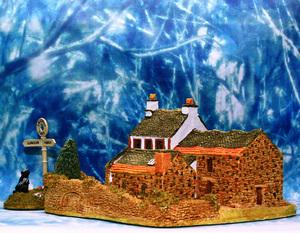 【*f*】 リリパットレーン イギリス C.C限定 1987/88 ミニチュアハウス ジオラマ Yew Tree Farm & Little Lost Dog ハイパーセットモデル