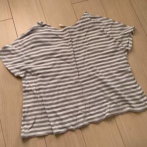 ニコアンド ボーダーTシャツ ボーダーカットソー 半袖ブラウス 半袖Tシャツ