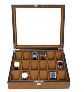 ☆ 高級 腕時計ケース 腕時計 18本収納 腕時計収納ケース 腕時計ケース コレクションケース 木製オンリーワン時計ケース 収納ケース11500