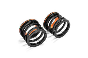 [ new goods ] helper springs H60-H20 2.8k ID62.5 orange anodized aluminum seat attaching 2 ps 1SET shock absorber for ID62 ID63 etc. 1