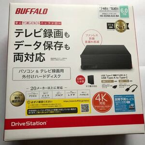 【新品未使用/送料無料】外付けハードディスク HD-EDS6.0U3-BA