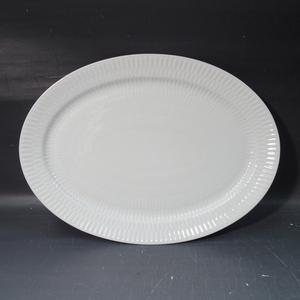 1 ROYAL COPENHAGEN ロイヤルコペンハーゲン ホワイトフルーテッド オーバル プレート 楕円 大皿 m002