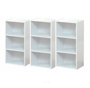 【送料無料】カラーボックス3段  3個セット展示品(ホワイト)