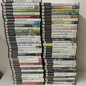 PS2_114【1円スタート!】大量62本まとめ売り ゲームソフト プレステ2 ジャンク品