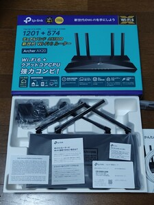 TP-Link Archer AX20 AX1800 デュアルバンド Wi-Fi 6 ルーター (オマケ付き)