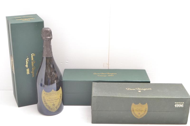 K000F34I 【1円スタート】 Dom Perignon vintage 1993 1995 1996 シャンパン 750ml 12.5 【3本まとめて】