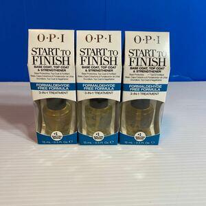 OPI (オーピーアイ) トップコート ベースコート ネイル 2in1 サロンネイル (スタートトゥフィニッシュ) 15ミリ×3