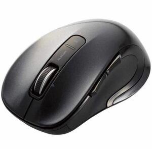 エレコム ワイヤレスマウス Mサイズ 5ボタン M-LS15DLBK
