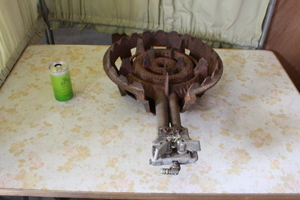 改 再 ▲よ-611 コンロ 鋳物 中古 厨房機器 業務用 屋台 ※寸法は画像下参照