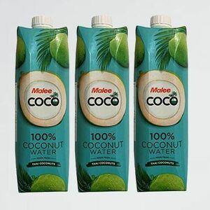 未使用 新品 Malee 100%ココナッツウォ-タ- A-4U 1000ml 3本セット