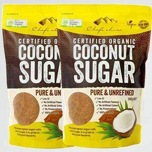 新品 未使用 オ-ガニックココナッツシュガ- (500g~1kg)シェフズチョイス 3-6B Sugar (1kg) 有機JAS ACO USDA Organic Coconut