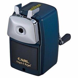 新品ブルー 本体サイズ:W120xL75xH132mm/484g カール事務器 鉛筆削り エンゼル5 ロイヤル 日本K0EX