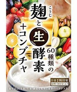 城 麹と60種類の生酵素とコンブチャ サラシア 一か月分