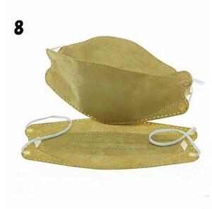 3330B 8番ベージュ(ゴールド)色20枚組 KF94不織布マスク4層構造 高密度フィルター使い捨てマスク ! 口紅付きにくい!隙間が出来にくい