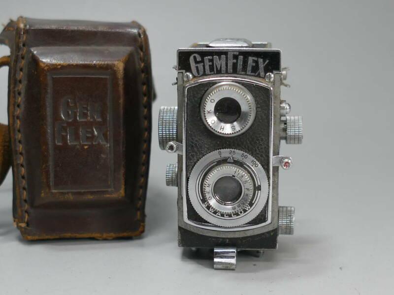 ◆珍品!GEMFLEX 二眼レフカメラ 小型 豆カメラ GEM 1:3.5 F=25mm 昭和光学精機