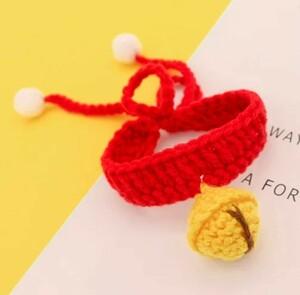 ペット首輪 ペットネックレス 犬ネックレス 猫ネックレス ニットネックレス かわいい首輪 優しい首輪 鈴首輪