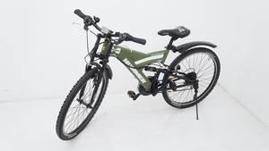 【美品】HUMMER ハマー 26インチ マウンテンバイク DH2618-E ダブルクラウン ダブルサスペンションモデル ※持ち帰りOK