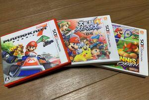 マリオカート7、大乱闘スマッシュブラザーズ 3DS、マリオテニスオープン  3DSソフトセット