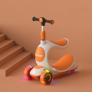 3つの新しい楽しみ方があり、お得■橙色■木馬のように揺れる、キックスクーター、三輪車■ボードライク■ストライダー■へんしんバイク