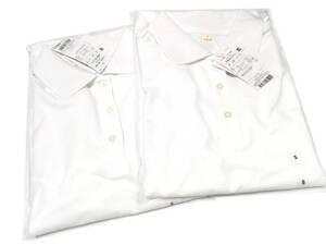 即決 レディース UV対応 吸水速乾 半袖 白 ポロシャツ 【Sサイズ】 2個セット 無地 トップバリュ 仕事 通勤 作業 シンプル 送料無料