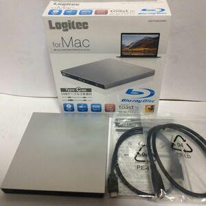 USB3.1 9.5mm薄 Type-C BDXL対応 Mac対応 ポータブルブルーレイドライブ シルバー Logitec LBD-PVA6UCMSV 未使用品