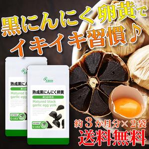 【リプサ公式】 熟成黒にんにく卵黄 約3か月分×2袋 C-152-2 サプリメント サプリ 健康食品 送料無料