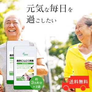 【リプサ公式】 香酢にんにく卵黄 約3か月分×2袋 C-120-2 サプリメント サプリ 健康食品 送料無料
