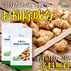 【リプサ公式】 イヌリン 約1か月分×2袋 C-209-2 サプリメント サプリ 健康食品 ダイエット 送料無料