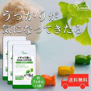 【リプサ公式】 イチョウ葉+DHA+EPA粒 約1か月分×6袋 T-600-6 サプリメント サプリ 健康食品 送料無料