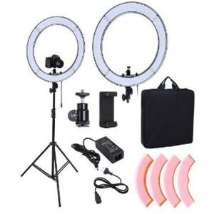 Specials ★ Camera photo studio phone video 55 watt 240 pieces LED ring light 5500 5500K photography ring lamp 200 cm tripod