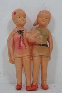 [珍品]戦前 セルロイド モダンガール 人形 1930年 当時物 日本製 コンポジション セルロイド ビンテージ 雑貨