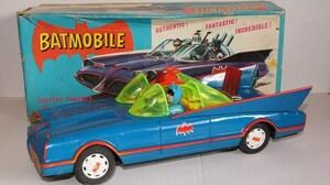 [珍品]ASC BATMOBILE/バットモービル ブリキ バッテリー式 バットマン 1960年代 当時物 日本製 青真商店 箱付き 雑貨