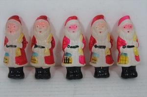 [珍品]セルロイド サンタクロース 5体セット 昭和レトロ 当時物 日本製 サンタ Santa Claus ビンテージ 人形 雑貨