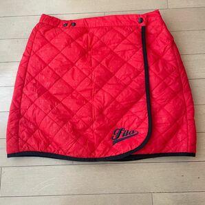 ゴルフウェア レディース フィラ FILA 赤色中綿スカート 美品!
