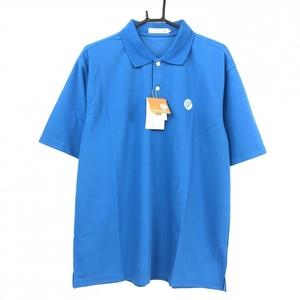 【新品】50%OFF~Paradiso パラディーゾ 半袖ポロシャツ ブルー 吸汗速乾 消臭 シンプル メンズ LL ゴルフウェア