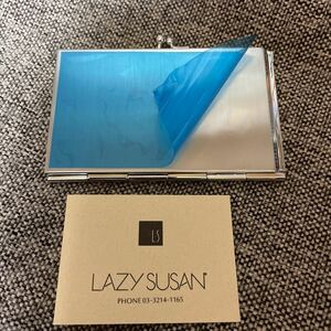 LAZYSUSANレイジースーザンかわいいがま口メタルカードケース未使用ブルー保護シート付送料無料4-5