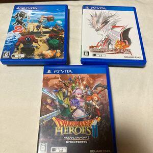 PS Vita セット ドラゴンクエストヒーローズ2 サガスカーレットグレイス 俺の屍を超えてゆけ2