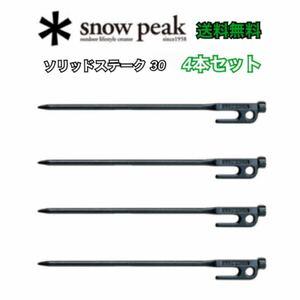 スノーピーク ペグ ソリッドステーク 30 R-103 snowpeak x4本