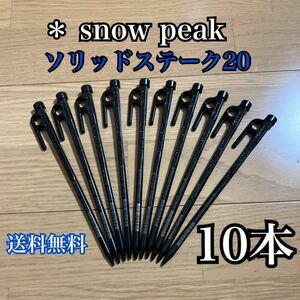 スノーピーク ペグ ソリッドステーク20 R-102 snow peak 10本