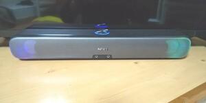NPET6W2スピーカーLEDイルミネーションUSB電源PC&TVサウンドバー