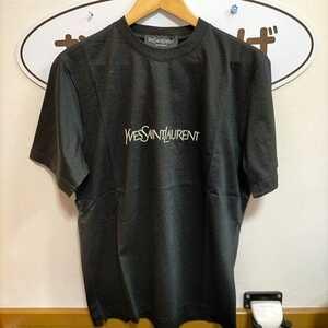 Yves Saint Laurent イヴサンローラントTシャツ 黒2 デットストック