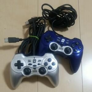 プレステ3コントローラー  PS3 プレイステーション3 ホリパッド3ターボ 2個