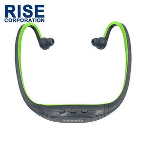 高音質 Bluetooth ワイヤレス スポーツ イヤホン グリーン 緑 ブルートゥース ハンズフリー ヘッドセット 音楽 耳掛け マラソン ランニング