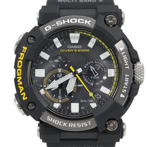 【未使用品】カシオ G-SHOCK フロッグマン Bluetooth ソーラー電波 メンズ 腕時計 アナログモデル GWF-A1000-1AJF【いおき質店】