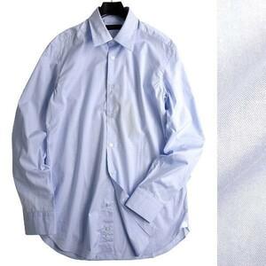 D'URBAN ダーバン 新品 定価1.8万 日本製 紳士定番 上質コットンブロード 無地 レギュラーカラー 長袖シャツ 408 35 L ▲020▼bus5089e